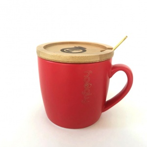 Hoogly Mug, coaster & spoon