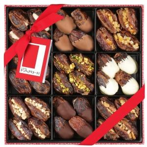 Belgian Chocolate & Stuffed Medjool Date Selection in a Gift Box
