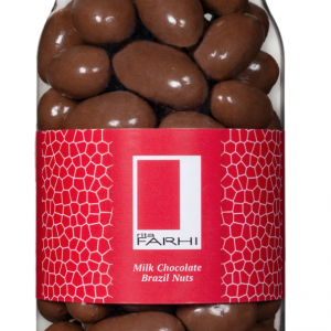 Milk Chocolate Coated Brazil Nuts in a Gourmet Gift Jar