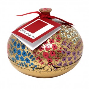 Assorted Chocolate Coated Almonds in a Hand Made Papier Mache Large Bonbonniare
