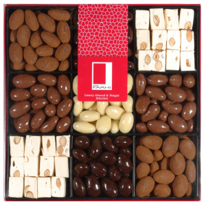 Chocolate Almond and Nougat Selection in a Nine-Way Gift Box