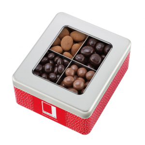 Chocolate Coated Fruit and Nut Selection in a Gift Tin