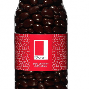 Plain Chocolate Coated Coffee Beans in a Gourmet Gift Jar