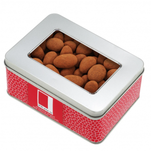 Cinnamon Dusted Milk Chocolate Almonds Coated in a Gift Tin