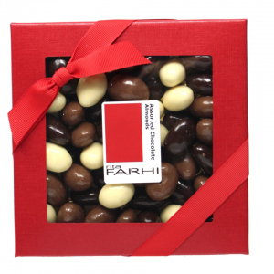 Assorted Chocolate Coated Almonds in a Gift Box