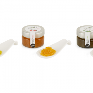 ZEET Olive Oil Pearls mixed case incl ( 5 Evoo, 5 Chilli & 5 Basil )