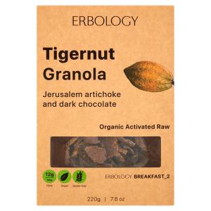 Tigernut Granola with Jerusalem Artichoke and dark chocolate