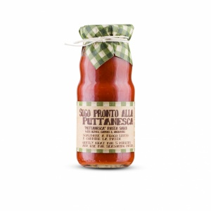 Tomato Pasta Sauce with Capers and Olives 'Puttanesca'