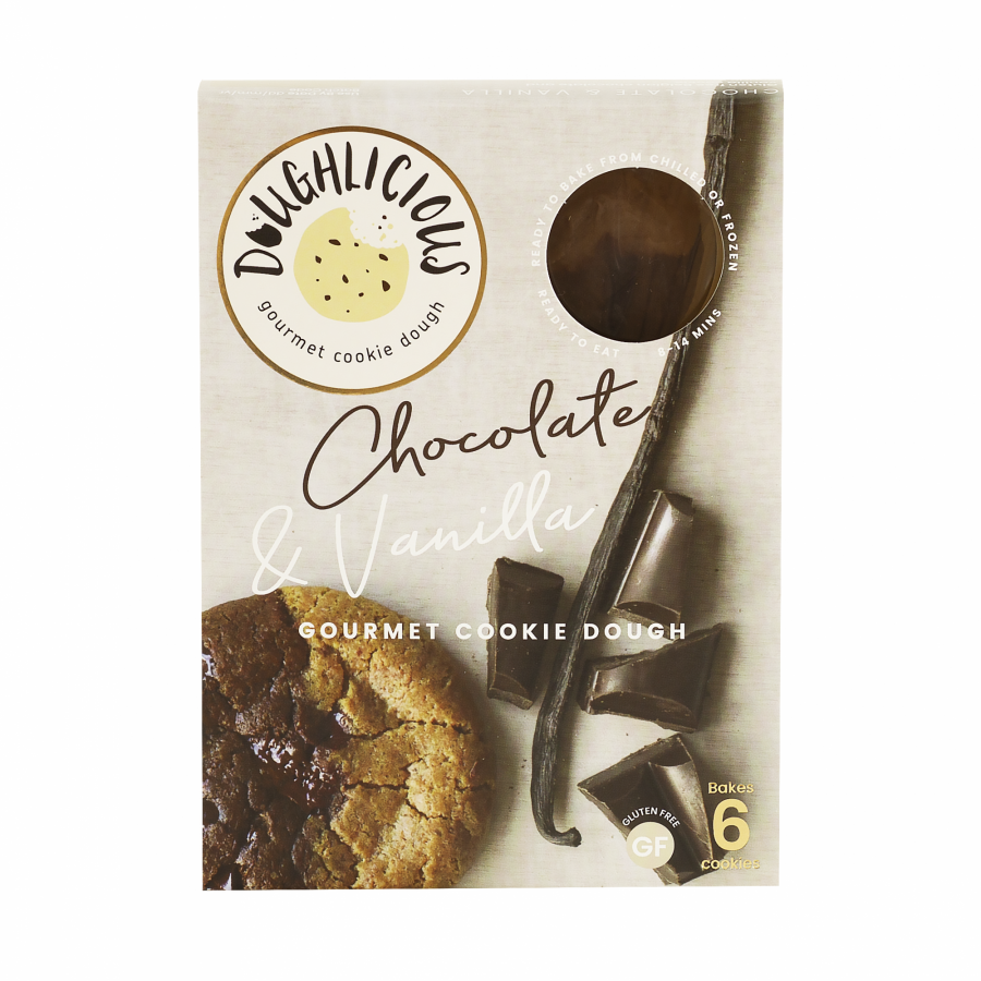 Doughlicious - Chocolate & Vanilla (gluten-free, ready-to-bake gourmet cookie dough)