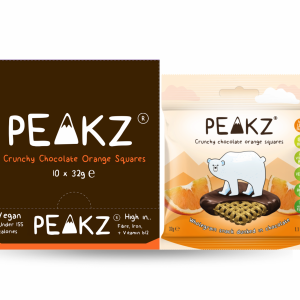 Peakz Crunchy Chocolate Orange Squares